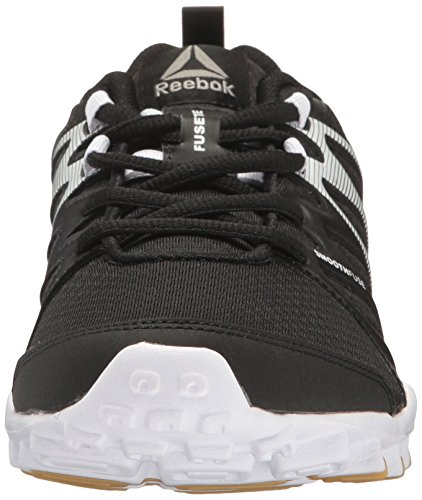 Reebok Women's Realflex Train 4.0 Cross-Trainer Shoe, Mist/Metallicerortie/White/Silver Metallicallic, B(M) US Black/White/Rbk Rubber Gum/Silver Metallic