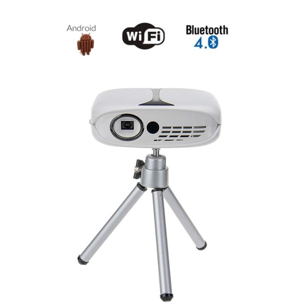 プロジェクター、家庭用ポータブルピコプロジェクター、携帯電話のWiFiダイレクトミニビデオプロジェクター、内蔵スピーカー、大画面ディスプレイ、内蔵バッテリー、DLP、HD、1080 P、LED 映写幕家庭用ポー クターモバイ   B07SYLT1BL
