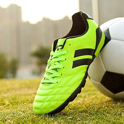 BELECOO - Botas de fútbol de poliuretano para niño Verde