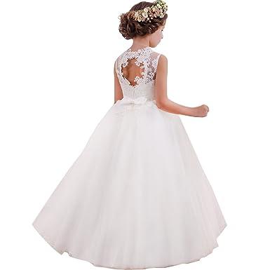 atarse en nuevo estilo de vida variedad de estilos de 2019 LZH Vestido de Fiesta Niñas Cordón Princesa Vestidos de Novia