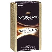 Trojan NaturaLamb Luxury Lubricated Latex FreevNatural Skin Condoms 10 Ea