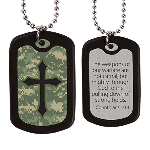 Kerusso Activewear Ftdt128 Digital Camo Cross Dog Tags FTDT128