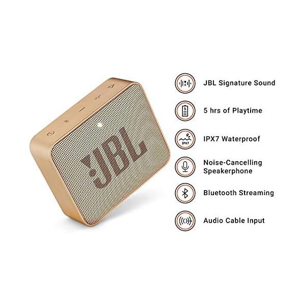 JBL Go 2 - Mini enceinte Bluetooth Portable - Étanche pour Piscine & Plage Ipx7 - Autonomie 5hrs - Qualité Audio JBL - Champagne 2