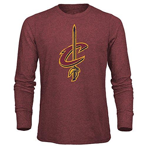 Nba Cleveland Cavaliers Mens Premium Triblend Long Sleeve Tee  X Large  Maroon