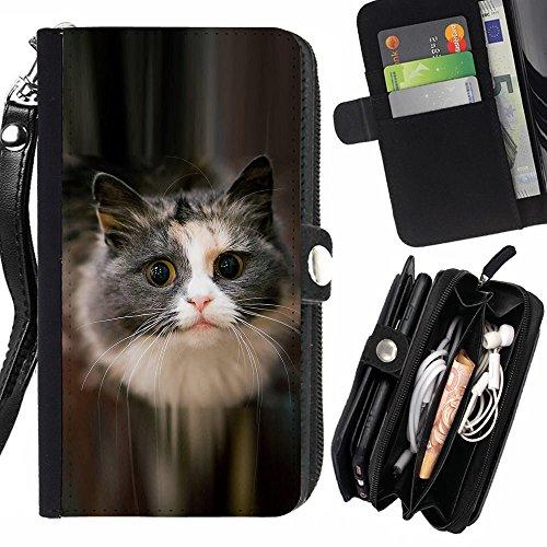 STPlus Gato en una caja Animal Monedero Con Correa y Cremallera Carcasa Funda para Sony Xperia Z4 #16