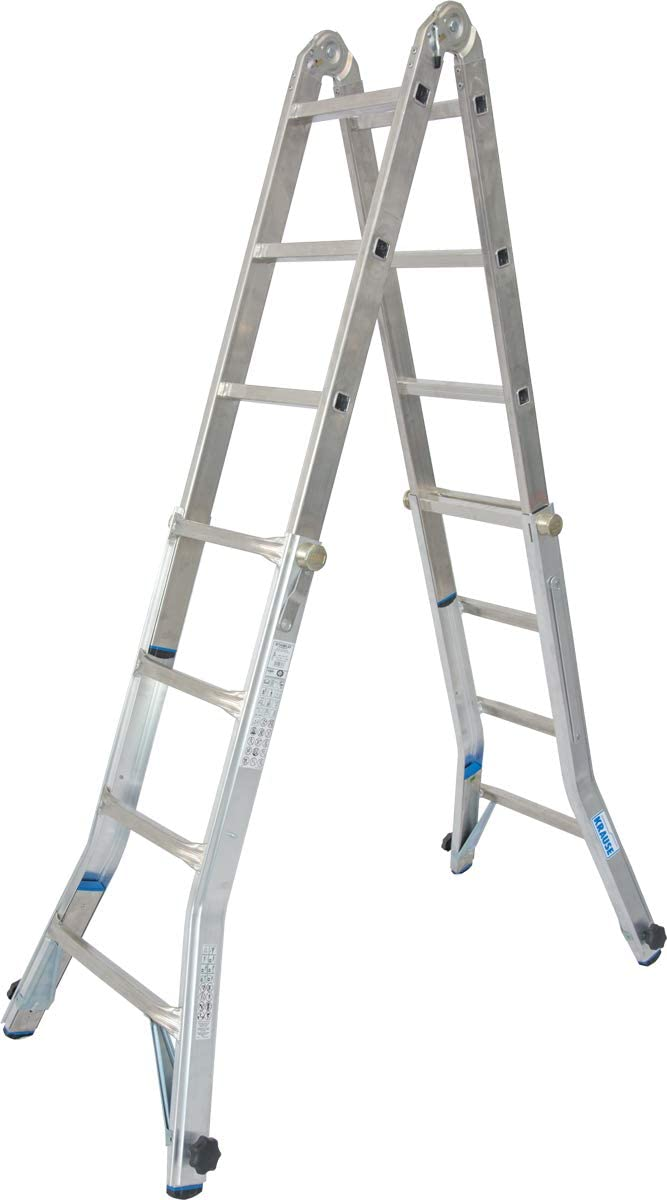 Escalera telescópica articulada con 4 extensiones de barra 4x4 Spr. Stabilo Krause 133977 - Caña de pescar (1,35-4,20 m): Amazon.es: Bricolaje y herramientas