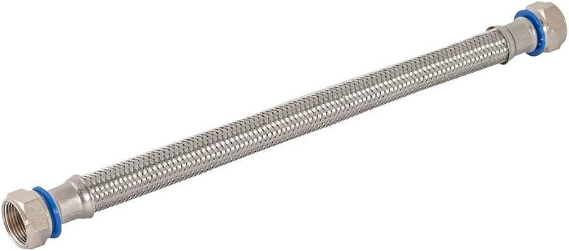 12 Length Silver Eastman 48250 Flexible Water Heater Connector 3//4FIP