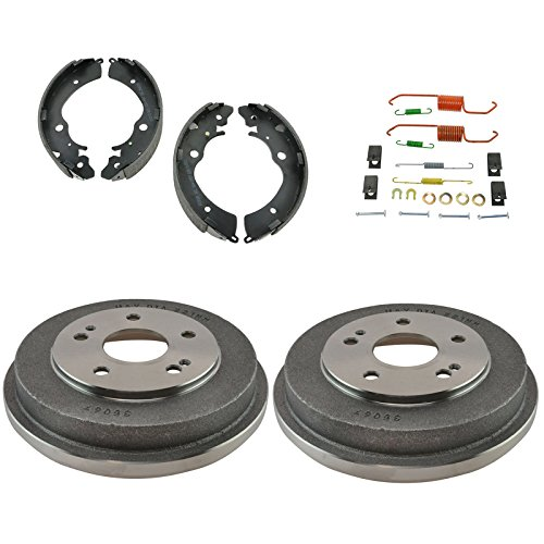 Rear Brake Drum & Shoe Kit with Hardware for 97-01 Honda CRV CR-V SUV