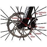 Lighter House 1 Piece High Strength Bike Brake Disk Plate Flange Type Threaded Disc Brake Disc 160Mm Diameter Bicycle Parts