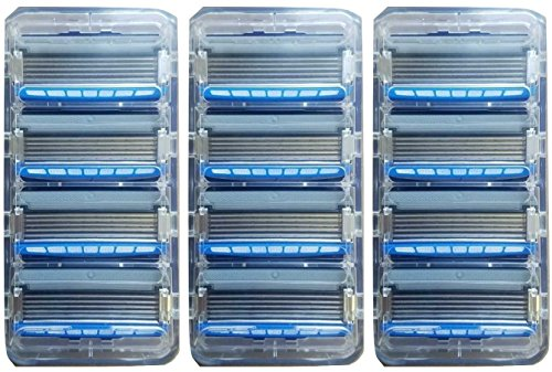 Schick Hydro 5 Sense Hydrate Refill Razor Blade Cartridge Lot of 12 Bulk by Schick Razor
