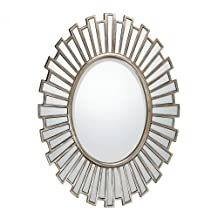 """Quoizel Lighting QR1413 Gwyneth - 37"""" Mirror, Silver Patina Finish with Beveled Glass"""
