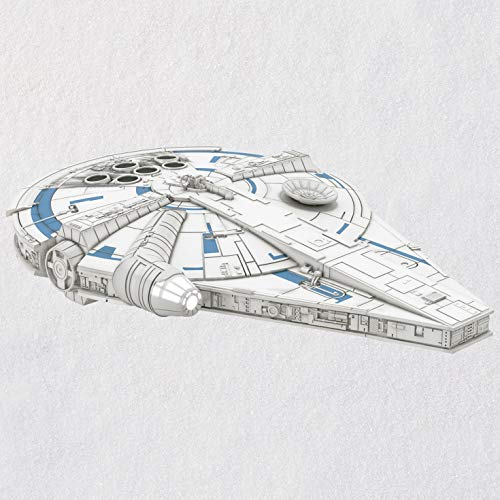 Hallmark Keepsake Christmas Ornament 2018 Year Dated, Solo: A Star Wars Story Millennium Falcon with Light, - Star Hallmark Wars Ornament