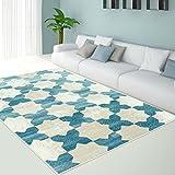Ladole Area Rug CLOVER Blue Modern Contemporary Geometric, Living Room Rug, Dining Room Rug, Turkish Rug (4 x 6)