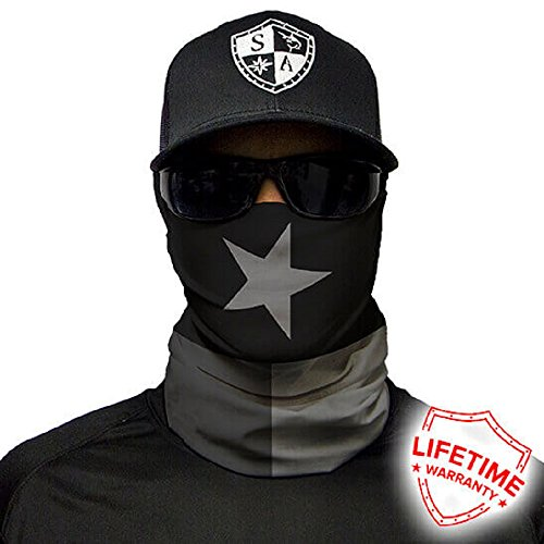SA Company Face Shield Micro Fiber Protect from wind, dirt and bugs. Worn as a Balaclava, Neck Gaiter & Head band for Hunting, Fishing, Boating, Cycling, Paintball & Salt lovers - Clothing Companies Running