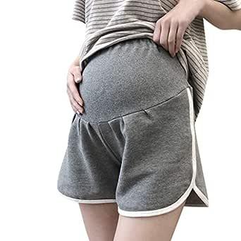 Gusspower Mujer Pantalones Cortos Rayas Premamá Pantalones de ...