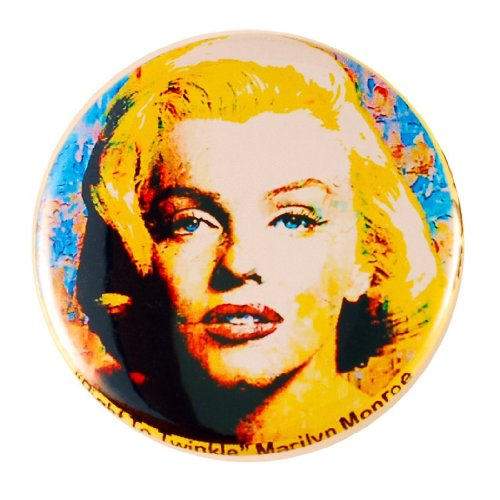 Marilyn Monroe Pin - Pinback Button by Mark Lewis Art - rtt - hand signed collectible (Lewis Hand Signed)