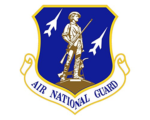 """Air National Guard Seal ANG Logo Military Vinyl Decal Sticker for Cars Trucks Laptops etc.5"""" Round (Full Color)"""