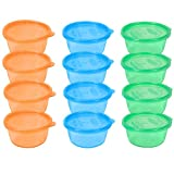The First Years 12 Pack Take & Toss Bowls with Lids - 8 Ounce - Colors May Vary