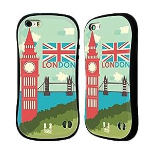 Head Case Designs Cityscape Brit Hallmarks Hybrid Gel Back Case for Apple iPhone 5 5s