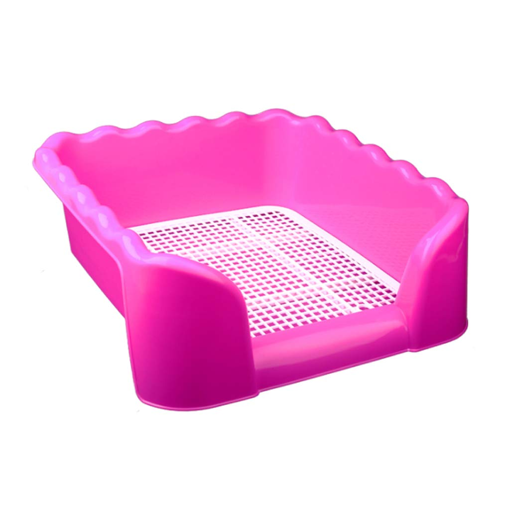 CJZ BOX Pet toilet Dog Pee Toilet,Indoor Dog Puppy Plastic Potty Training With Fence And Target 42  42  15cm Pink WC