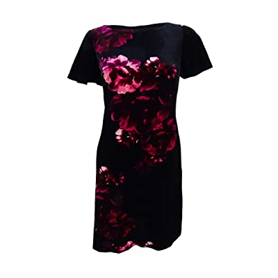 American Living Womens Velvet Floral Party Dress at Amazon Women's Clothing store