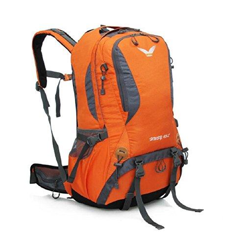 LJ&L Mochila de excursión multiusos al aire libre, con mochila resistente a la lluvia práctico para llevar a la lluvia, mochila universal para hombres y mujeres al aire libre,A,36-45L D