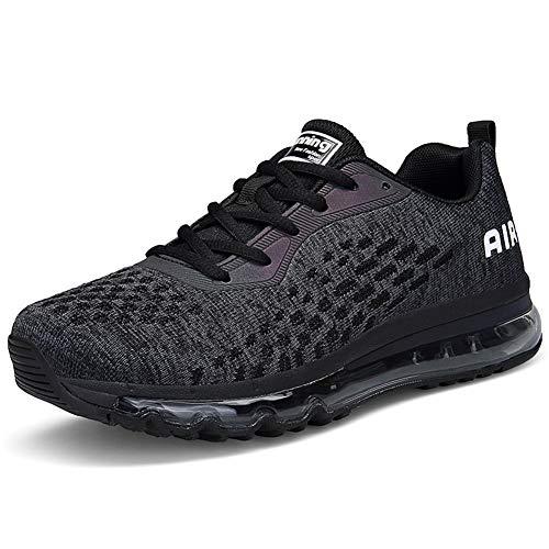 Shoes Herren 44 Weiß Schwarz Running Air Bequeme Sportschuhe Damen 35 MIMIYAYA Unisex Schnürer Laufschuhe Laufschuhe vnUq75O6w