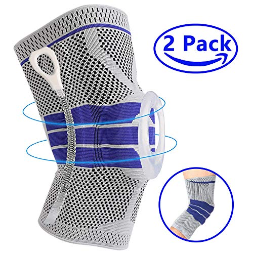 Premium Knee Brace Compression Sleeves – Professional Knee Pads Support for Meniscus Tear, Arthritis, Joint Pain Relief, Running, Crossfit, Workout, Basketball, Volleyball, Men & Women M