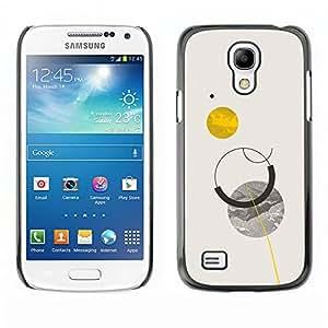 Shell-Star Art & Design plastique dur Coque de protection rigide pour Cas Case pour SAMSUNG Galaxy S4 mini VERSION! / i9190 / i9192 ( Sun Planets Moon Sky Minimalist )