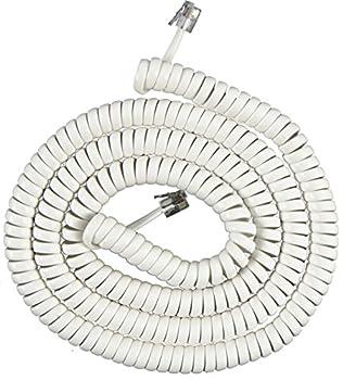 Power Gear Telephone Coil Cord, 25 Feet, White, 76122 0