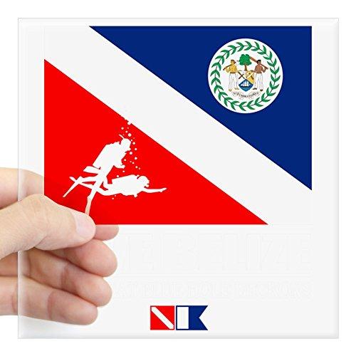 CafePress Dive Belize Square Sticker 3