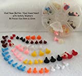 Crafts Sewing Sizes Oval Safety Noses Buttons Eyes Sew Crochet, 56 Assortment Mixed