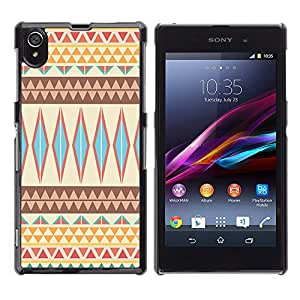 Graphic4You COLORFUL TRIBAL PATTERN Thin Slim Rigid Hard Case Cover for Sony Xperia Z1