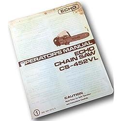 Echo Cs-452Vl Chainsaw Operators Owners Manual Chain Saw Maintenance 2 Cycle
