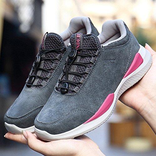 Atmungsaktive Schuhe Männer Frauen Leichte Wintermode Paar Outdoor Laufschuhe Wgrey
