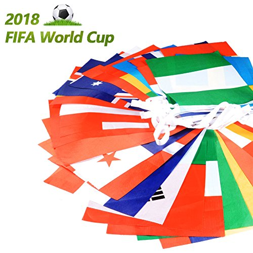 Club Pennant - International Flags, 32.8ft 5.58.2inch/7.811inch Flag Banners for World Cup, Sports Clubs, Party Events Decorations (20X28cm)