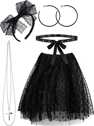 5 Piece 80s Madonna Lace Costume Set