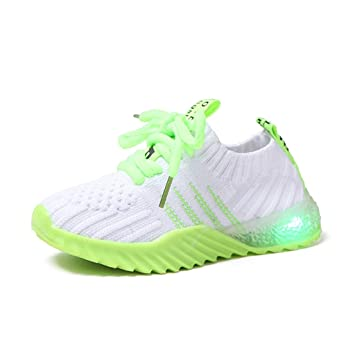 Children Kids Baby Girls Boys Led Light Luminous Sport Run Sneakers Mesh Shoes