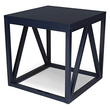 ec66b8b5a4 Image Unavailable. Image not available for. Color: Kate and Laurel 210047  Kaya Cube Wood Side Table ...
