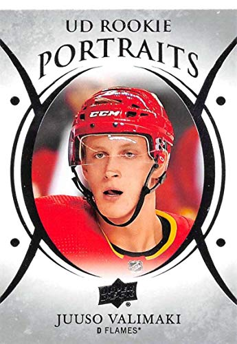 2018-19 Upper Deck Portraits #P-80 Juuso Valimaki Calgary Flames NHL Hockey Trading Card ()