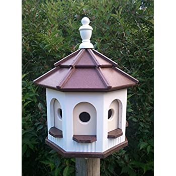 Amazon Com Medium Poly Octagon Amish Gazebo Birdhouse