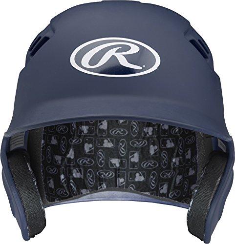 Rawlings Velo Series Alpha Sized Batting Helmet, Matte Navy, Small by Rawlings