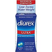 Diurex Ultra Water Weight Loss Formula Maximum Strength Diuretic, 80 Water Pills (Pack of 2)