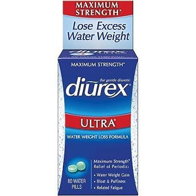 Diurex Ultra Water Weight Loss Formula Maximum Strength Diuretic, 80 Water Pills (Pack of 2)