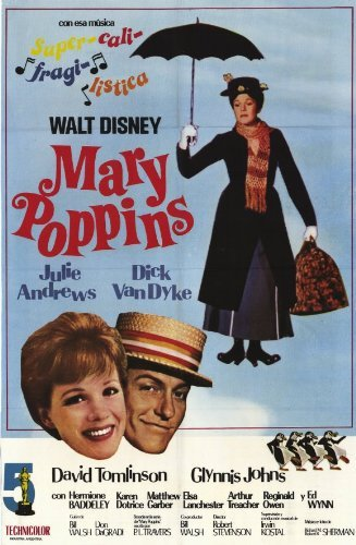 Mary Poppins Movie Poster 1964 Argentine Style A - Julie Andrews Dick Van Dyke