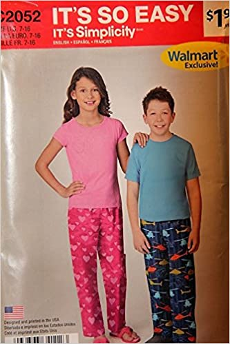 a55f80887c It s So Easy It s Simplicity C2052 Size 7-16   Girls  And Boys  Pants Loose  Leaf – 1967