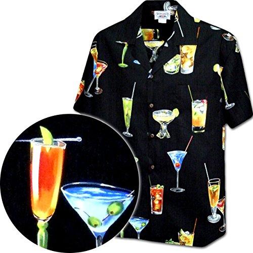 Hawaiian Shirt with Tropical Drinks