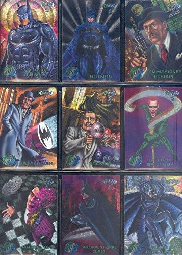 BATMAN FOREVER METAL 1995 FLEER COMPLETE BASE CARD SET OF 100 DC ()