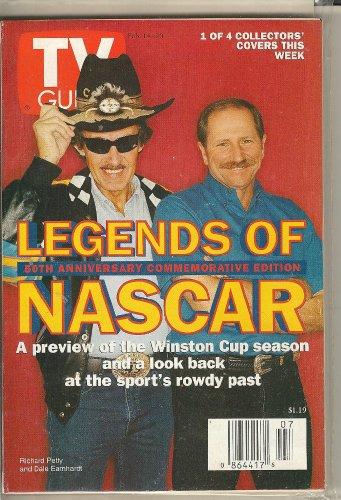 TV Guide February 14-20, 1998 Richard Petty and Dale Earnhardt: Legends of NASCAR, 50th Anniversary