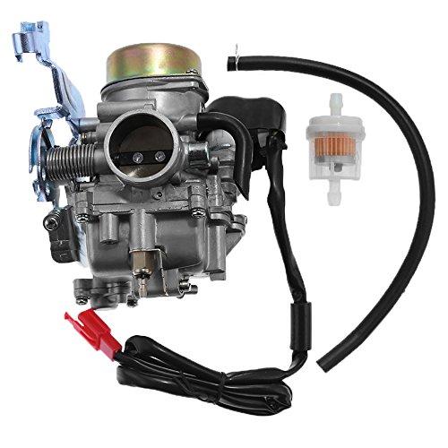 Off Road Carburetor - Carburetor W/Air Filter for Manco Talon 260cc 300cc Linhai Bighorn 260cc 300cc ATV UTV Off Road Carb